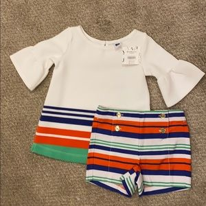 Janie & Jack Sweater & Shorts 18-24 months